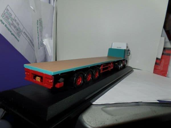 Oxford 76EC003 EC003 1/76 OO Scale ERF EC Flatbed Trailer Pollock